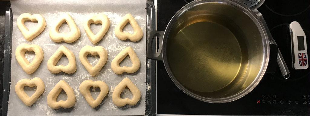 Donuts uten melk klare til fritering