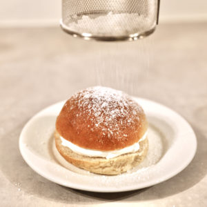 Melis på fastelavnsbolle uten melk