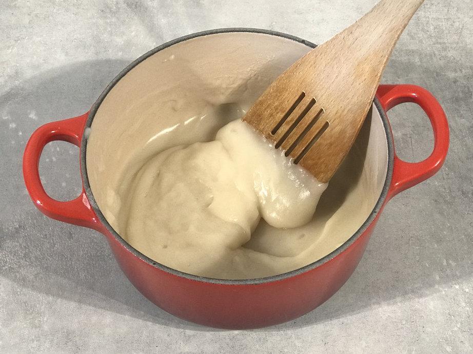 Slik ser jevningen til tangzhong-boller uten melk ut