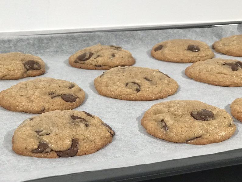 De ferdigstekte cookiene ser utrolig gode ut