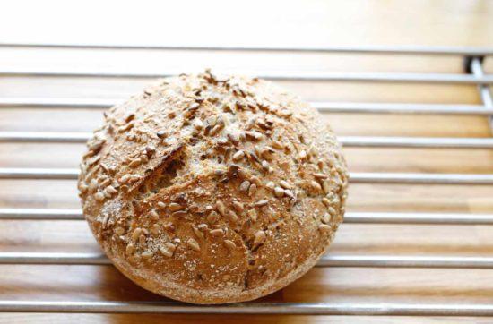 Brød med lite gjær ferdig stekt