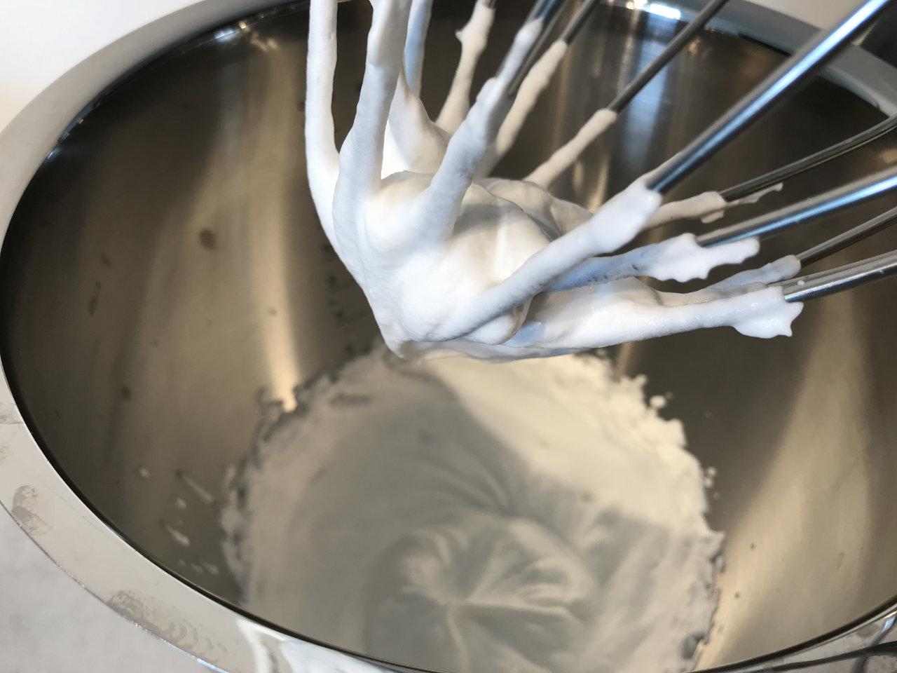 Alpro Cuisine soya slik den ser ut når den er ferdigpisket.