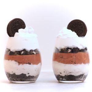 Oreokake i glass uten melk med sjokolademousse og Gryr Til Matlaging