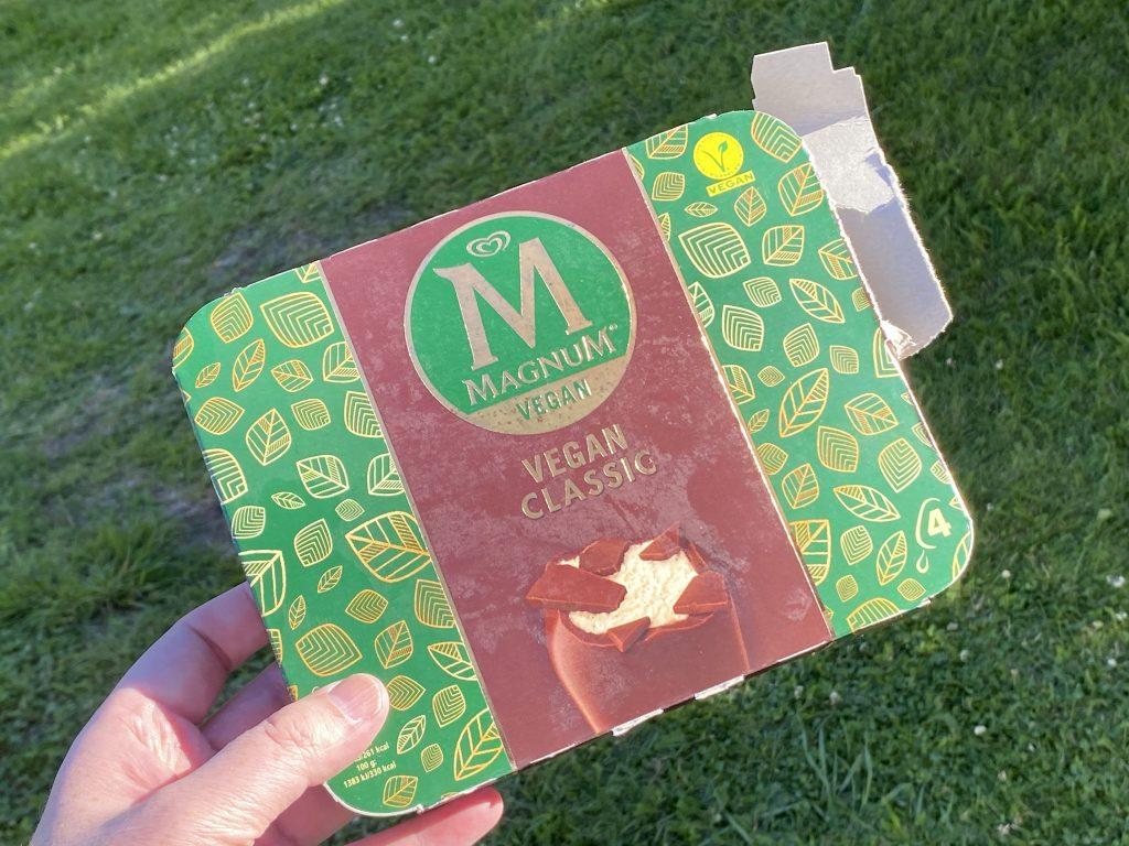 Magnum melkefri is forpakning