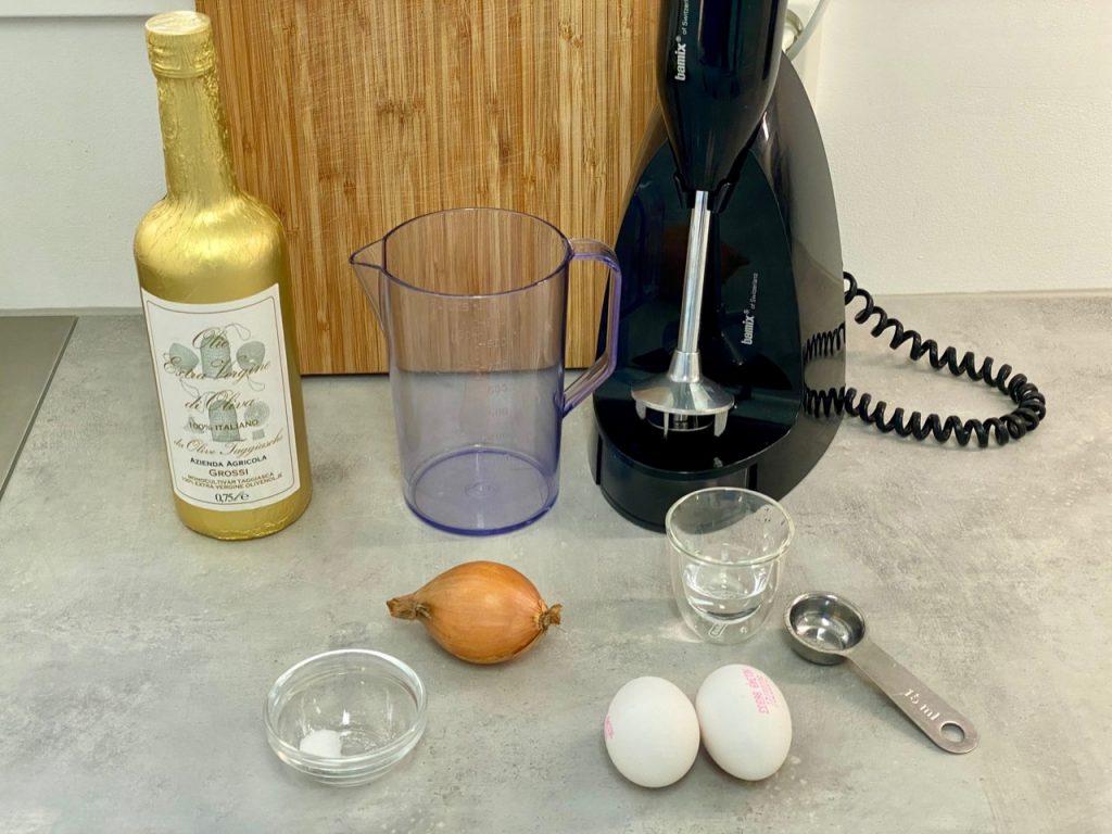 Ingredienser til melkefri omelett